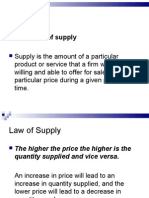 supply and elasticity