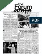 The Forum Gazette Vol. 1 No. 11 November 1-15, 1986