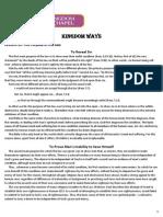 Kingdom Ways Lesson 15