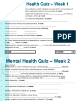 weekly quizzes - mental health