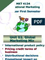 MKT 4134 International Marketing Fourth Year First Semester