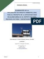 1° PROPUESTA DECLARACION IMPACTO AMBIENTAL - PIURA - LRG - 15 AGOSTO 2013
