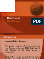 BCG Matrix on Bajaj Group