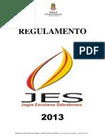 Regulamento Jes 2013