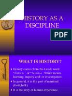 history as a discipline