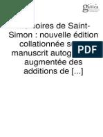 Memoire Saint Simon