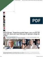 Mario Bunge_ Argentina puede llegar a ser un país del siglo XXI