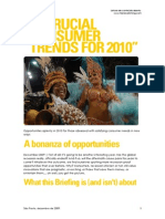 10 Crucial Consumer Trends for 2010 - Trendwatching