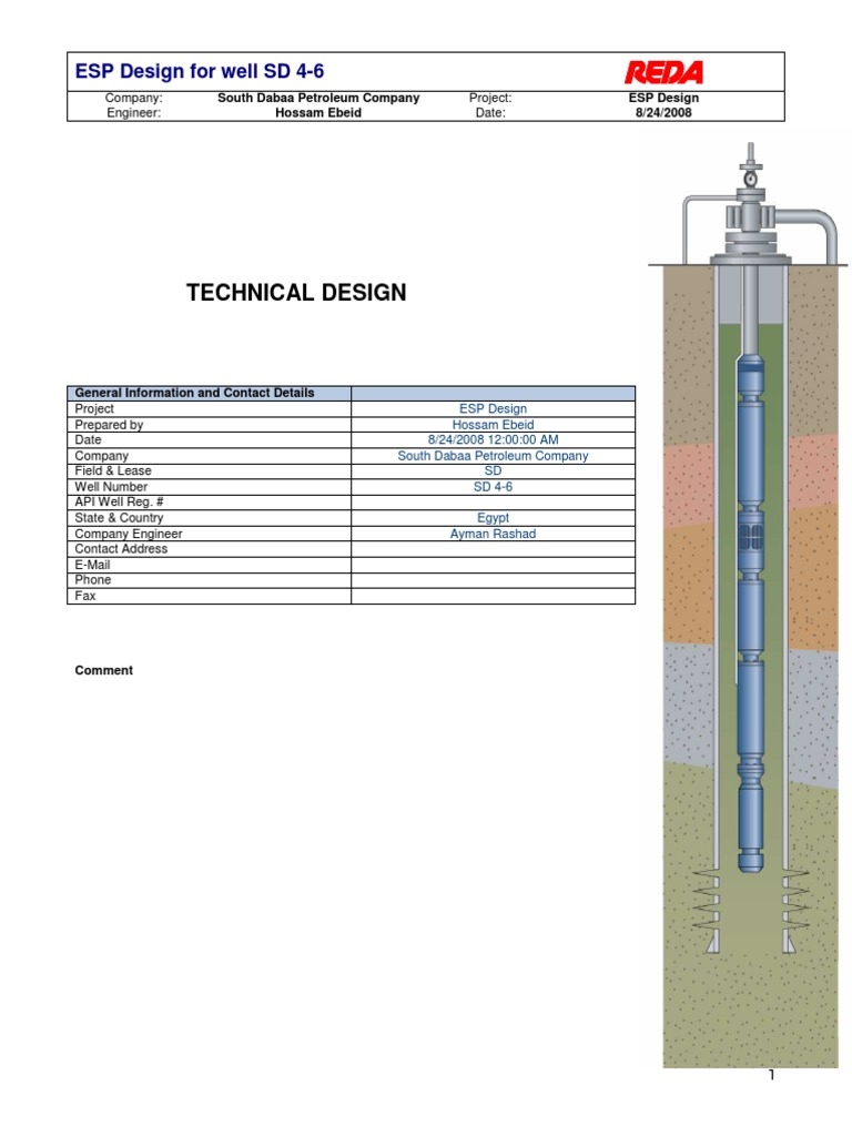 080824_SD4-6_Final ESP Design pdf | Petroleum Reservoir | Pump