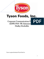 tyson foods comm audit final project