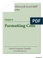 Learning Microsoft Excel 2007 - Formatting Cells