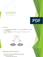 Lecture 6 Streams and Serialization
