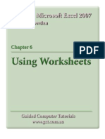 Learning Microsoft Excel 2007 - Worksheets