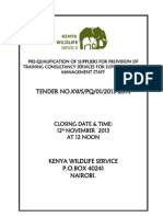 Preq of Suppliers -Training Consultancy 2013-2014