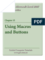 Learning Microsoft Excel 2007 - Macros & Buttons
