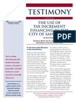 The Use Of Tax Increment Financing In The City Of Saint Louis (Downtown)