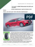 """Nokian-Winterreifen ist """"gut"""" im ADAC Winterreifen-Test 2013 und bei """"test Stiftung Warentest"""" / Mit der Bestnote """"besonders empfehlenswert"""" gehört der Nokian zu den Besten / Bestes """"auto motor sport"""" Urteil """"Besonders empfehlenswert"""""""