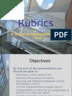 Creating Rubrics