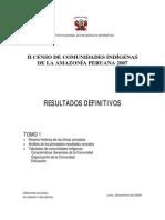 Censo de Pueblos Indígenas - Tomo I