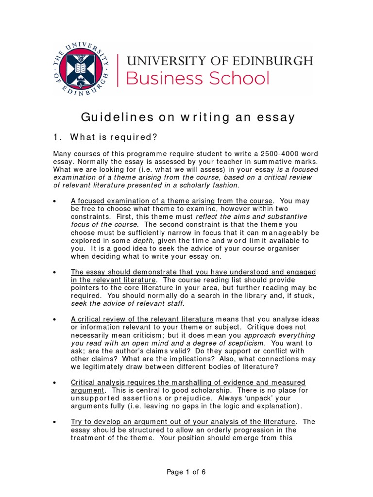 Steps to writing a strong thesis statement