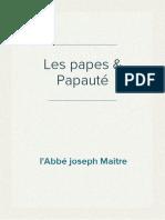 l'Abbé Joseph Maitre - Les Papes & Papauté