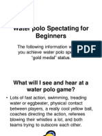 Waterpolo Spectating for Beginners