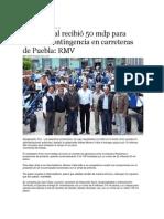 29-10-2013 Puebla on Line - SCT federal recibió 50 mdp para atender contingencia en carreteras de Puebla RMV