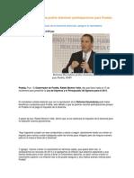 28-10-2013 Puebla Noticias - Reforma Hacendaria podría disminuir participaciones para Puebla, RMV