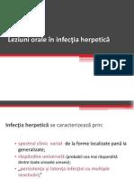 Leziuni orale în infecţia herpetică