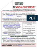 MT - Who is Behind the Montana Policy Institute