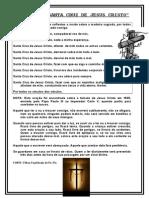 ORAÇÃO DA SANTA CRUZ DE JESUS CRISTO