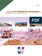 Conception et réalisation des terrassements _ Fascicule 1 _études et excécution des travaux _ Guide technique