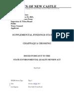 Chappaqua Crossing Findings Statement Final