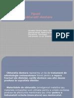 Birzila Ioana- Alexandra- Grupa 3- Cariologie 2 - Tipuri de Obturatii Dentare
