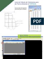 Ejemplo de Calculo de Volumenes en TopoCal