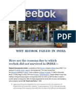 WHY  REEBOK  FAILED  IN  INDIA.docx