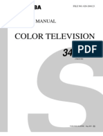 Toshiba Color TV 34HF81 Service & Schematic