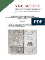 [Alchimie] Artéphius - Le Livre Secret