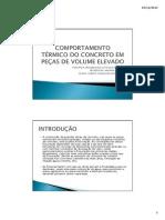COMPORTAMENTO TÉRMICO DO CONCRETO EM PEÇAS DE VOLUME ELEVADO
