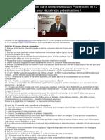 Les 20 erreurs à éviter dans une présentation Powerpoint