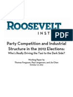 Party Competition and Industrial Structure in the 2012 Elections