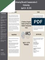 Advancing Research Communication & Scholarship (ARCS)