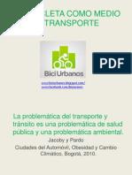 La Bicicleta Como Medio de Transporte Powerpoint