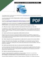10 conseils pour améliorer la crédibilité d'un site web