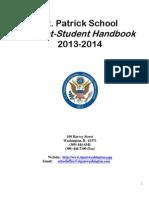 St Patrick Parent-Student Handbook_2013-2014 Final Draft