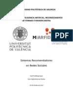 SR en Redes Sociales. D. Calabuig - A. Ruescas