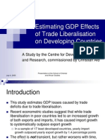 Estimating GDP Effects of Trade Liberalisation on Developing