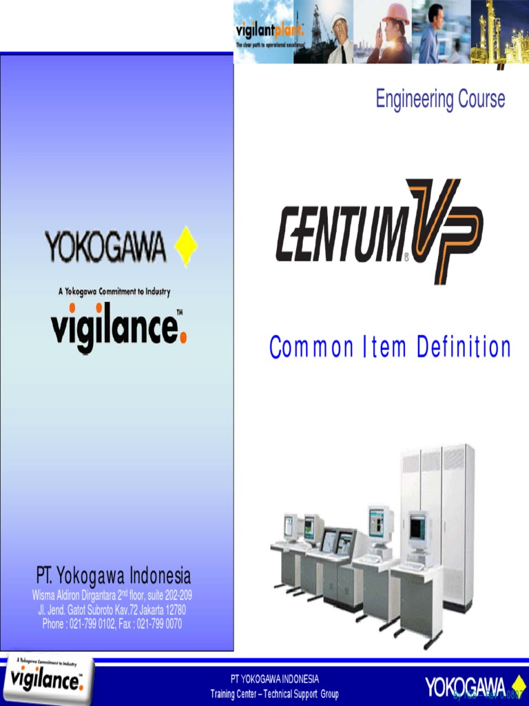 centum vp training pdf personal computers technical support rh es scribd com Yokogawa Centum CS 3000 Yokogawa Control Room
