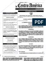 Acuerdo Gubernativo 389-2008 sobre salario minimo