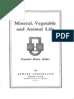 Mineral Vegetable and Animal Life, Perpetual Motion Holder by Edward Leedskalnin
